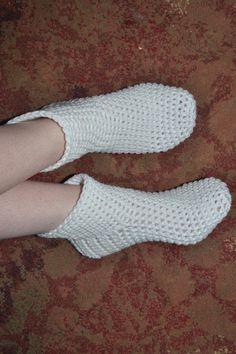 Crocheted Slipper Socks PDF.