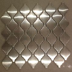 Discount Glass Tile Store - Stainless Steel Tile  - Arabesque Lantern Mosaic - Sale Price $9.97 Sq.Ft, $9.97 (http://www.discountglasstilestore.com/stainless-steel-tile-arabesque-lantern-mosaic-sale-price-9-97-sq-ft/)