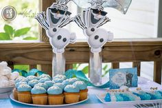 Frozen Birthday party for boy. Olaf fans
