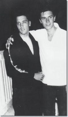 Elvis Presley : Goethestrasse 14, Bad Nauheim, Germany : August 18, 1959 : With a member of the Austrian Elvis Presley Fan Club.