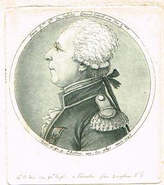 Jean-François de Rafélis - Comte de Broves (1729-1792) - Député aux Etats Généraux - physionotrace par Chrétien en 1789