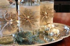 Espaço Infantil Artesanato de Natal com Garrafas de Vidro - Espaço Infantil