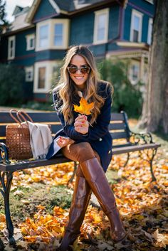 Gal Meets Glam Riding Boots For Fall - Frame Coat c/o, Tory Burch Sweater, J.Crew Shirt, Old Navy Pants, Frye Boots, Krewe Sunglasses & Dragon Diffusion Tote