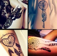 Dream catchers have always been so prevalent in my life and I really hope to get one of these one day. My favorite is the heart dream catcher tattoo.