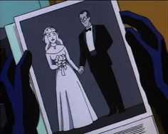 Nora Fries and Victor Fries(Mr. Freeze) from Batman The Animated Series episode The Heart of Ice
