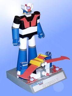 Mazinger Z - PM-01 Robot Paper Model Free Template Download - http://www.papercraftsquare.com/mazinger-z-pm-01-robot-paper-model-free-template-download.html#MazingerZ, #PM01, #Robot