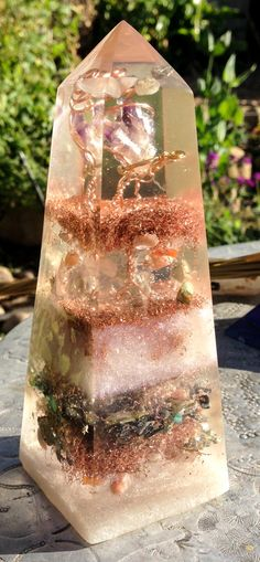 Orgonite Obelisk to Open the Crown Chakra by VioletFlameOrgoneLA