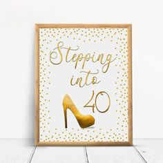 Stepping into Happy Birthday Sign, Cheers to 30 Years, Anniversary Sign, Confetti Gold Party Decoration, Birthday décor - annika Happy 80th Birthday, Birthday Cheers, 70th Birthday Parties, Gold Birthday Party, Happy 30th, 50th Birthday Party Decorations, Gold Party Decorations, Sign, 30th Anniversary