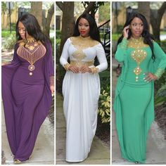 Everyone's Favorite.  Which one's yours ? ❤  1. Adele kaftan 2. Jasmine Kaftan 3. Sophia Kaftan  Still available on our website 👇  WWW.KAFTANCITRA.COM  #HappyFriday #TGIF