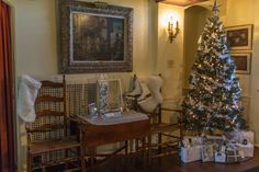 The historic halls of Pearl S. Buck's former home are all decked out for this year's Festival of Trees. Come see beautifully-decorated trees and rooms like this one from Blu Lotus Design Studio's Michele King.