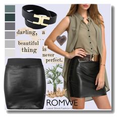 """Romwe 5"" by crvenamalina ❤ liked on Polyvore featuring Nourison and Nearly Natural"