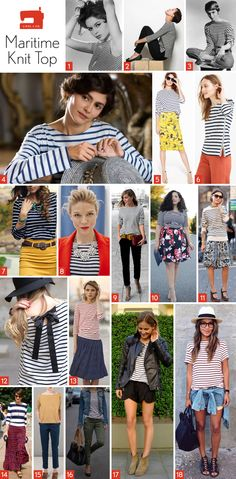 Fabric and styling inspiration for the Liesl + Co Maritime Knit Top sewing pattern.