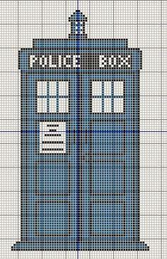 Tardis Doctor Who Cross Stitch Pattern