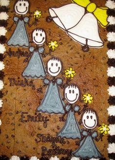 Bridesmades Cookie Cake American Cookie, Cookie Cakes, Grooms, Snoopy, Wedding, Cookies, Valentines Day Weddings, Boyfriends, Weddings