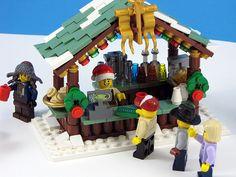 Built for the Eurobricks Expand the Winter Village Contest. Lego Christmas Ornaments, Lego Christmas Village, Lego Winter Village, Christmas Mantles, Christmas Villages, Christmas Christmas, Xmas, Lego Gingerbread House, Casa Lego