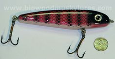 Phantom Lures, Big Wood Musky Lures, Phantom Bleeding Sucker