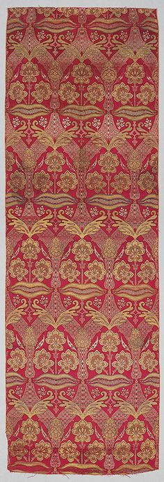 16th Century Bursa silk with with gold metal-wrapped thread • The Metropolitan Museum of Art collection