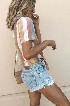56 Chic and Easy Summer Outfit Ideas - Page 3 of 5 - Sommer + Strandmode - Modetrends Simple Summer Outfits, Spring Outfits, Trendy Outfits, Cute Outfits, Basic Outfits, Style Summer, Summer Clothes For Women, Comfortable Summer Outfits, Summer Wear For Women