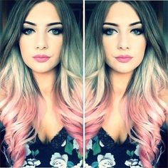 shaded hair: here are beautiful hair color to stitch immediately – Crazy Hair Colors – hairtrends Hair Styles 2016, Long Hair Styles, Pastel Rainbow Hair, Hair Due, Beautiful Hair Color, Hair Color And Cut, Hair Color Balayage, Crazy Hair, Pink Hair