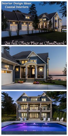 Interior Design Ideas Coastal Interiors Full House Tour on Home Bunch Wall Paint Colors, Bedroom Paint Colors, Interior Paint Colors, Cabinet Door Styles, Kitchen Cabinet Styles, Grey Kitchen Designs, British Home, Interior Windows, Exterior Design
