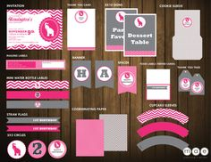 Pink Elephant 1st Birthday Party  Printable Set by mae14 on Etsy, $40.00