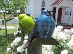 # Kokako - $79 Old Fashioned Sweet Shop, Julie Lee, Havelock North, Ceramic Birds, Garden Art, Ceramics, Sculpture, Gallery, Fun