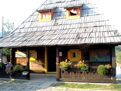 One of the houses in Emir Kusturica's wooden village Mecavnik