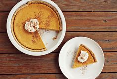 Pumpkin Pie // Paula Deen ... swap mascarpone for cream cheese, use half brown & half white sugars, serve with whipped cream.