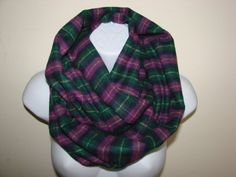 purple green plaid infinity scarf flannel by OtiliaBoutique Plaid Infinity Scarf, Plaid Scarf, Womens Scarves, Flannel, Trending Outfits, Purple, Green, Clothes, Etsy