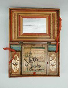 A Fine Straw Marquetry Box 4