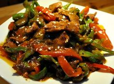 Oriental Beef with Peppers Recipe | Just A Pinch Recipes