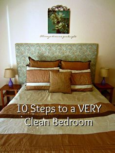 Vol. 2, Day 18: Ten Steps to Deep Clean Your Bedroom - washing walls is so important! They get disgusting!
