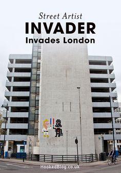 French Street Artist Invader hits London with a new invasion of work. French Street, London Street, Street Artists, Mosaic Art, Willis Tower, Rue, Art World, Pop Art, Graffiti