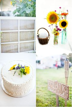 adorable dairy farm wedding.  Like the feel of it- but with blackboards and mason jars instead