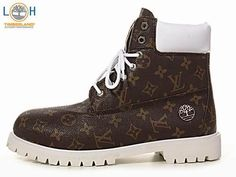 Timberland LV Monogram Mens Brown Leather Boots  $76.96