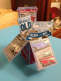 Glenn's 60th birthday card in a box.