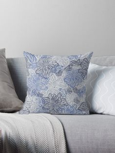 Early morning flowers  Throw Pillows
