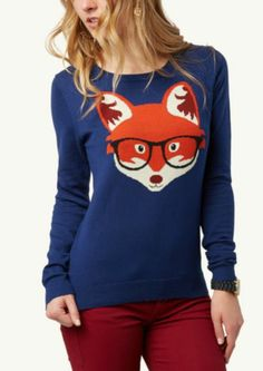 Hipster Fox Sweater | Tops | rue21 #whatthefoxsay!