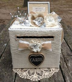 Rustic Wedding Card Boxcard holder for by AlltheBestCardBoxes