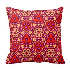 Bright Patterned Throw Pillow