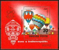 1983 Hungary Mi.3607/B162 Balloon 4,50 €