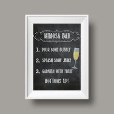 Mimosa Bar Chalkboard Sign