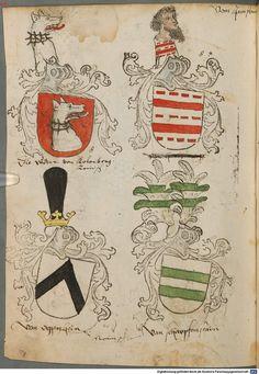 Tirol, Anton: Wappenbuch Süddeutschland, Ende 15. Jh. - 1540 Cod.icon. 310  Folio 107v