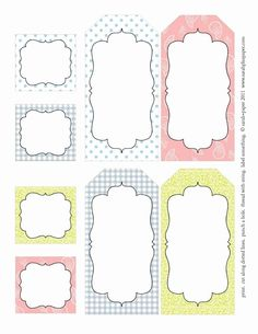 Free Templates for Labels . 28 Beautiful Free Templates for Labels . Spice Jar Labels by Ink Tree Press Printable Labels, Printable Paper, Free Printables, Free Label Templates, Labels Free, Easter Printables, Tampons, Label Design, Journal Cards
