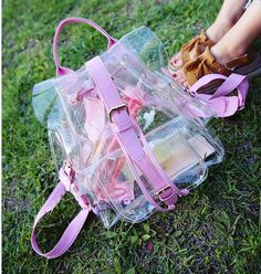 Summer Transparent Backpack     Tag a friend who would love this!     Best Price and Free Shipping Worldwide     Buy one here---> https://youngcitystore.com/summer-transparent-backpack/
