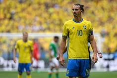 Sweden's forward Zlatan Ibrahimovic looks on during the Euro 2016 group E football match between Ireland and Sweden at the Stade de France stadium in Saint-Denis on June 13, 2016. / AFP / MIGUEL MEDINA