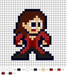 Scarlet Witch Civil War Perler Bead Pattern