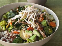 Quinoa and Brown Rice Bowl with Vegetables and Tahini | F&W's Gail Simmons makes this vegan rice bowl when she needs something especially healthy to eat.