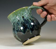 Coffee mug ceramic tea cup pottery glazed in by hughespottery