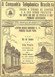 Anúncio publicado em 26 de janeiro de 1939 na edição especial do jornal santista A Tribuna comemorativa do centenário da elevação de Santos à categoria de cidade